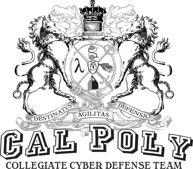Logo for Cal Poly Pomona's Collegiate Cyber Defense team.