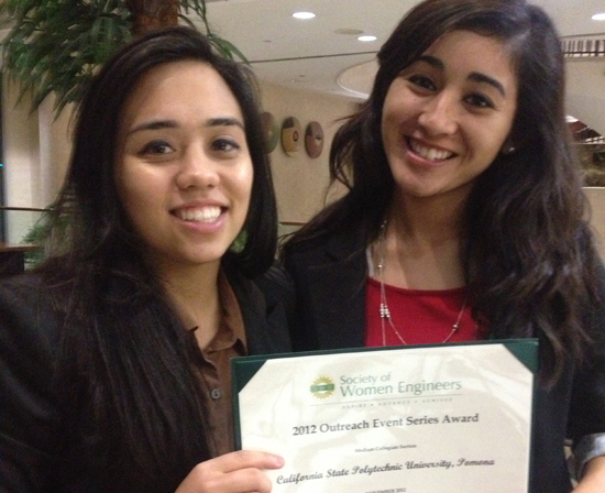 Society of Women Engineers Wins Outreach Award