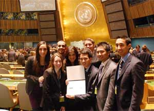 Model UN Team Awarded at National Conference