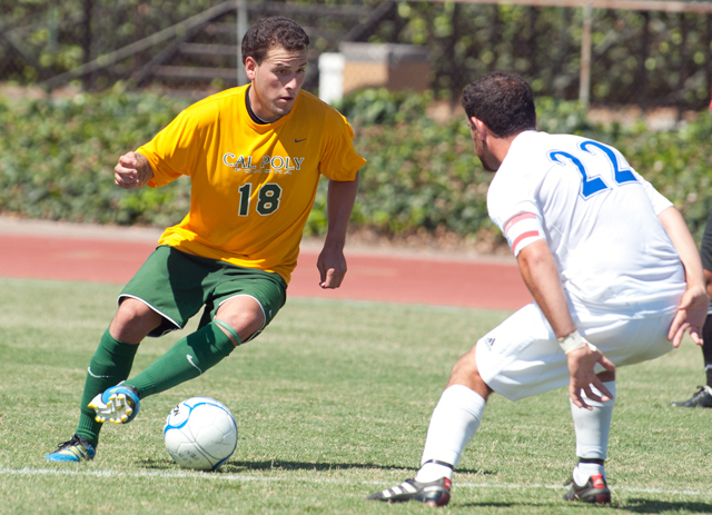 Luis Gonzalez makes a move during the Broncos 2-0 scrimmage victory over Cal State San Marcos August 23, 2011.