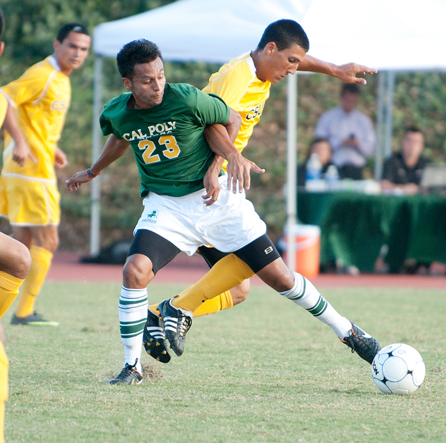 Juan Mejia plays against Cal State Los Angeles September 30, 2011.