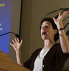 Naomi Oreskes, Director of the Program in Science Studies at UCSD, speaks on   the science of global warming during Campus Forum at Cal Poly Pomona.