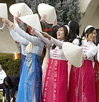 Members of the Vietnamese Students Association perform during Chinese New Year celebration at Cal Poly Pomona.