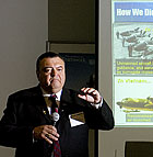 Frank Flores Vice-President of Engineering at Northrop Grumman talks about unmanned arial vehicles at Cal Poly Pomona.