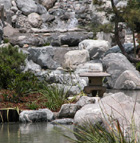 The rock waterfall is just one of many serene locations at the new George & Sakaye Aratani Japanese Garden.