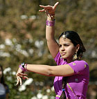 Mehak Beri, a junior majoring in Chemical Engineering, dances the bharatnatyan during Diwali, Festival of Lights, a celebration of the Indian New Year.
