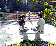 Seniors Plan Japanese Garden Benches as 2005 Class Gift
