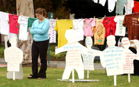 Survivors Display Powerful Messages for Clothesline Project