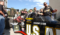 NHRA Racer Tony Schumacher Talks Shop With Engineering Students During Campus Visit