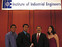 Industrial Engineering Students Receive First Place for Technical Paper at IIE International Conference