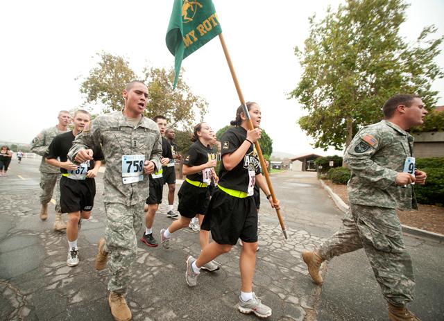 ROTC cadets run together Matt's Run on October 16, 2010.