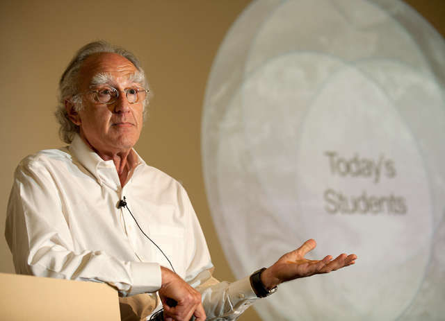 Howard Charney talks about technology and education in the 21st century at the Provost's Awards for Excellence Symposium on October 4, 2011.