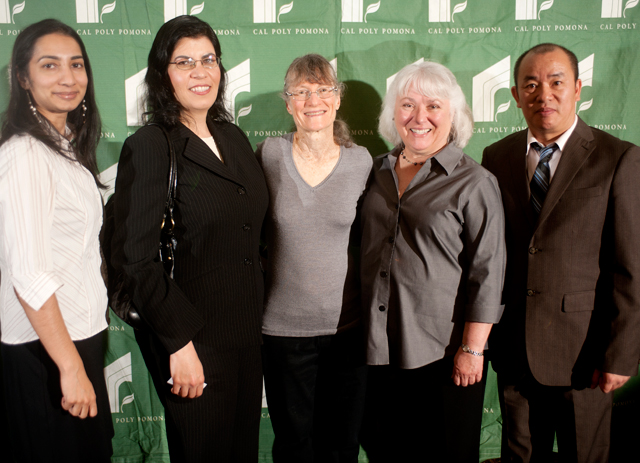 Sonia D'Souza, Farahnaz Sedaghat, Laura Felzer, Rebecca Hill and Shubo Wu received the Alan Felzer scholarship February 22, 2012.