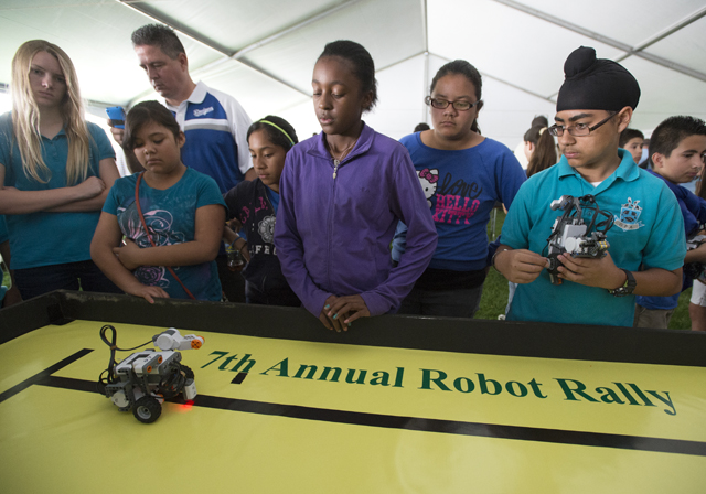 Elementary Students Learn By Making Robots