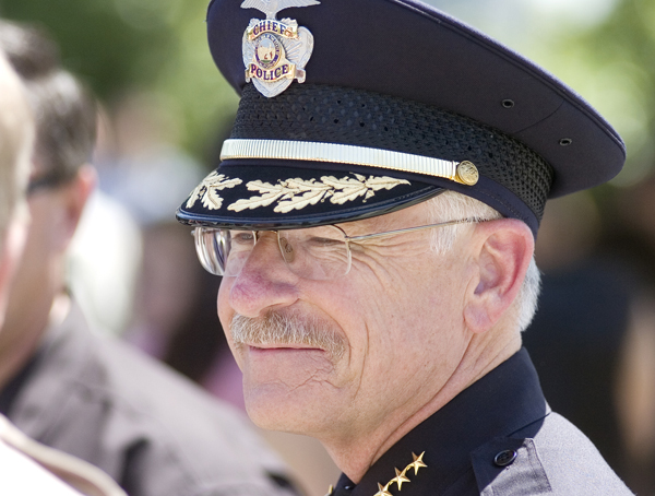 Retiring Police Chief Mike Guerin