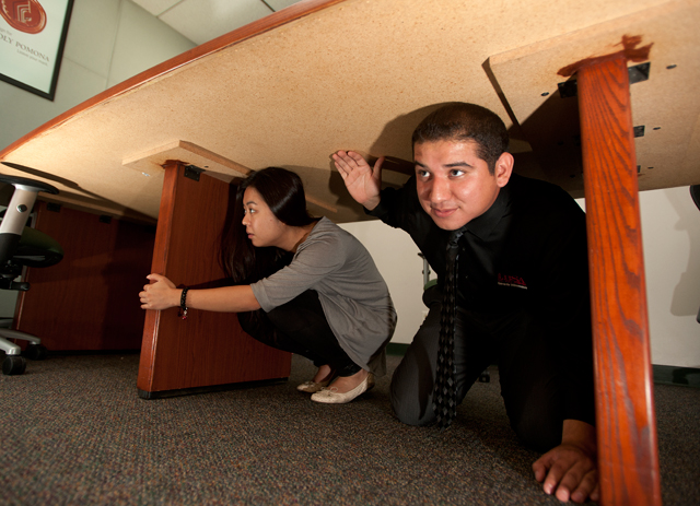 Don't Forget to Drop, Cover and Hold On During the ShakeOut