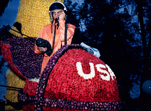 Ron Simons as the Man on the Moon for the 1962 Rose Parade.