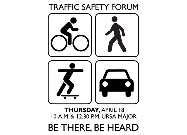 Traffic Forum, Pizza with the Presidents on Thursday