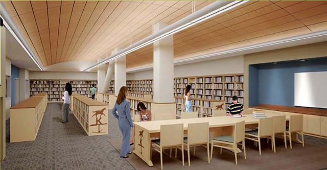 Rendering of the new Arabian Horse Library in the University Library.
