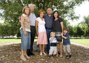 Members of the Sperber family attend a tree dedication ceremony at AGRIscapes in 2008.