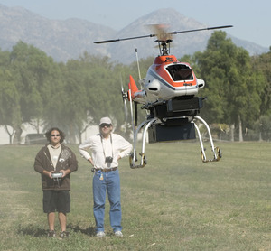 Up and Away! Aerospace Engineers Fly Remote Control Helicopter