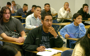 Summer Bridge students participate in a class on ethnic and women's studies in 2004.