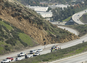 San Dimas Landslide Forces Road Closures