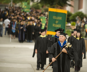 College of Science commencement processional in 2009.