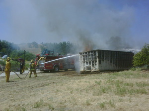 Dumpster Fire Contained at Lyle Center