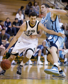 Tobias Jahn drives during the Broncos win over Sonoma State at Cal Poly Pomona on Feb. 20, 2009.