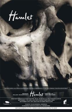 """Poster for 2010 Shakespeare Festival's """"Hamlet"""""""