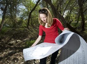 April Marshburn, a landscape architecture student