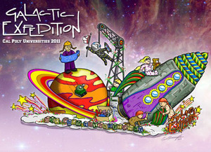 Cal Poly Rose Float Goes Galactic