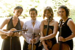 Berkeley-based Real Vocal String Quartet. Photo by Lenny Gonzalez, courtesy of RVSQ