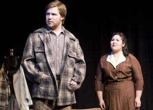 "Devin Calderone and Krystine Martinez perform in the theatre department's production of ""A View from the Bridge"" on Feb. 4, 2009."