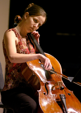 Michelle Collar plays Four Etudes for Violincello by Bohuslav Martinu during the Music Hour Winter Showcase in 2005.