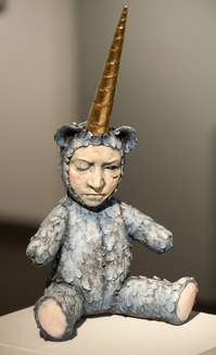 """""""Solo,"""" a ceramic by Ingrid Hendrix, is part of Ink and Clay 37."""