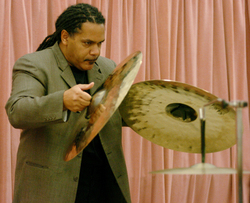 Raynor Carroll, principal percussionist for the Los Angeles Philharmonic, presents a master class on April 17, 2006.