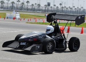 The Formula car 2011 international SAE competition in Fontana.