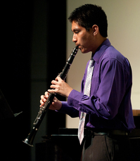 Andres Meza performs Ballade, op. 43, no. 3 by Niels Gade on clarinet at the Music Hour Spring Showcase at April 28, 2011.