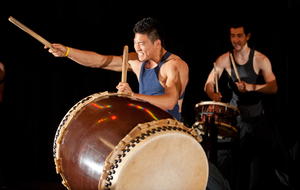 Touzan Taiko drummers perform at Unity Luncheon on April 12, 2012.
