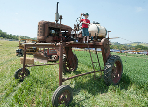 An antique tractor is on display at the 2011 Tractor & Car Show at the Farm Store on May 7, 2011.