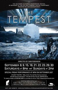 """Poster for """"The Tempest,"""" the 2012 production of the Southern California Shakespeare Festival."""