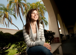 Graduate student Claudia Cervantes will receive her master's in education in June 2012.