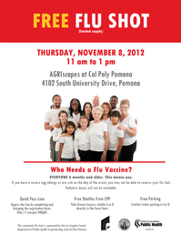 Free Flu Vaccines on Campus