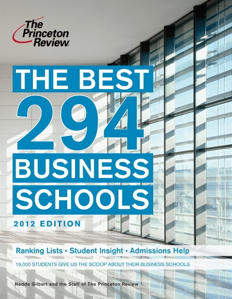 Cover the Princeton Review's 2012 Best Business Schools publication.