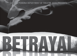 """Poster for theatre production """"Betrayal"""""""