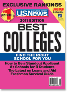 Cover of the 2011 Best Colleges guidebook by U.S. News & World Report