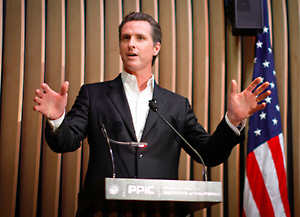 Lt. Gov. Gavin Newsom on Campus for Workforce Development Summit