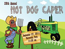 Logo for the 2011 Hot Dog Caper.